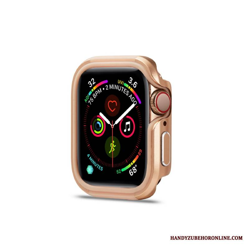 Apple Watch Series 5 Futerał Złoto Pu Granica Metal Etui Nowy Stop Metali
