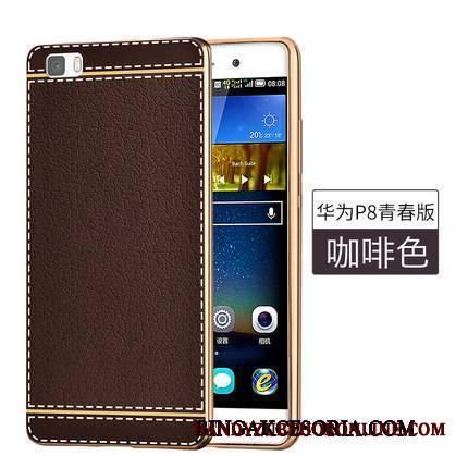 cf0e21f81a2 Huawei P8 Lite Skórzany Futerał Ochraniacz Młodzież Silikonowe Miękki Etui  Anti-fall